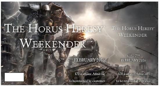 horus heresy weekender 2016