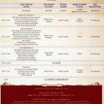 Horus Heresy Weekender Leaked Schedule - Friday/Saturday