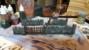 Walls from the Fortified Manor Warhammer Scenery Set