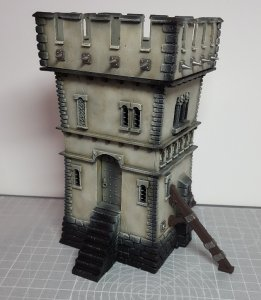 The Watchtower from the Fortified Manor Warhammer Scenery Set